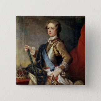 Louis XV  aged 15, after 1725 Pinback Button