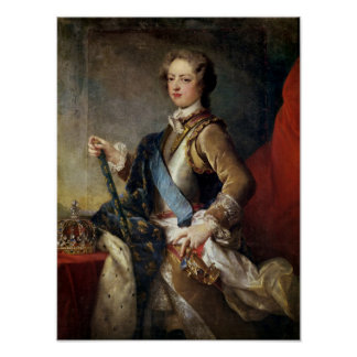 Louis XV  aged 15, after 1725 Poster