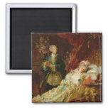 Louis XV and Madame Dubarry 2 Inch Square Magnet