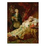 Louis XV and Madame Dubarry Postcard