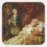 Louis XV and Madame Dubarry Square Sticker