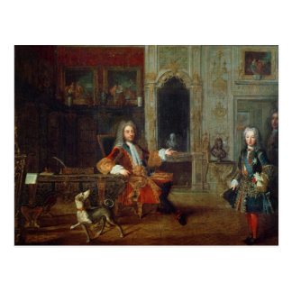 Louis XV  and the Regent, Philippe II Postcard