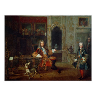 Louis XV  and the Regent, Philippe II Poster