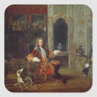 Louis XV  and the Regent, Philippe II Square Sticker