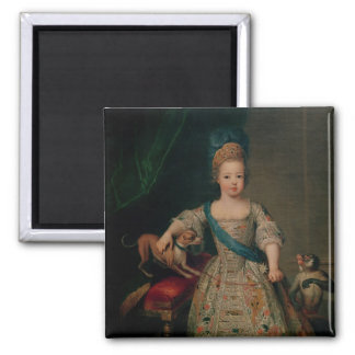 Louis XV  as a child, 1714 2 Inch Square Magnet