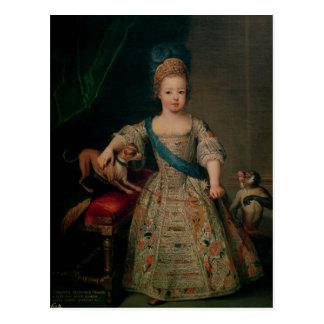 Louis XV  as a child, 1714 Postcard