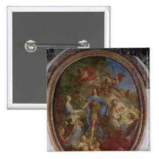 Louis XV  Giving Peace to Europe, 1729 Pinback Button