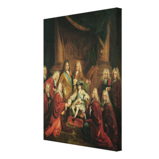 Louis XV  Granting Patents of Nobility Canvas Print