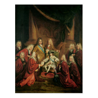 Louis XV  Granting Patents of Nobility Postcard
