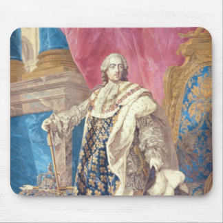 Louis XV  in Coronation Robes Mouse Pad