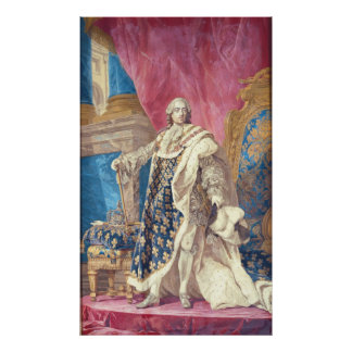 Louis XV  in Coronation Robes Poster