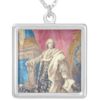 Louis XV  in Coronation Robes Square Pendant Necklace