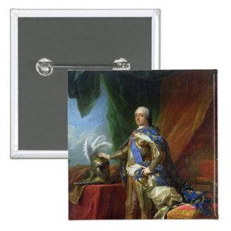 Louis XV  King of France & Navarre, 1750 Pinback Button