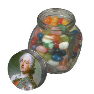 Louis XV of France by Maurice Quentin de La Tour Glass Candy Jar