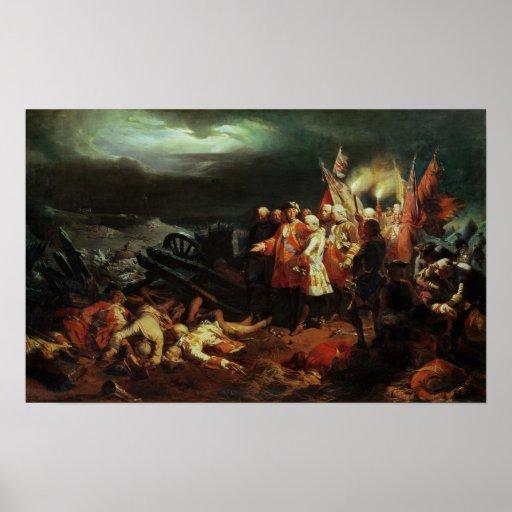 Louis XV que visita el campo de la batalla Impresiones
