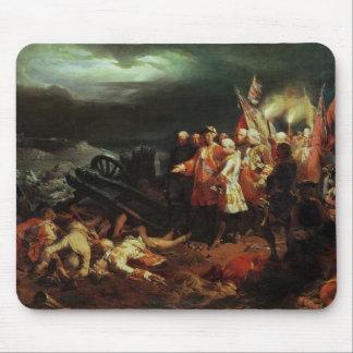 Louis XV que visita el campo de la batalla Alfombrillas De Raton