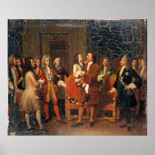 Louis XV  Visiting Peter I Poster