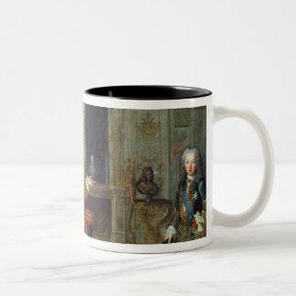 Louis XV y el regente, Felipe II Taza De Café De Dos Colores