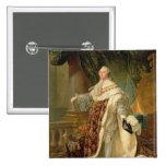 Louis XVI (1754-93) (aceite en lona) Pin Cuadrada 5 Cm