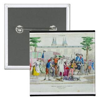 Louis XVI and his family taken to the Temple Pinback Button