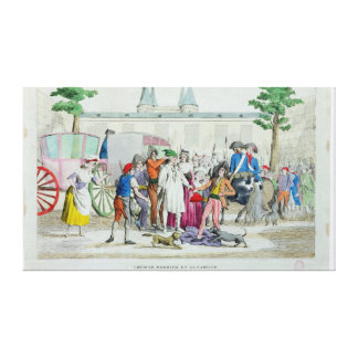 Louis XVI  and his family taken to the Temple Gallery Wrap Canvas