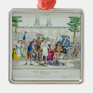 Louis XVI  and his family taken to the Temple Metal Ornament