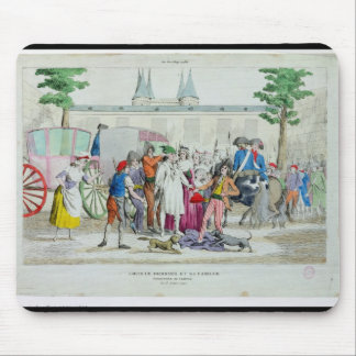 Louis XVI  and his family taken to the Temple Mouse Pad
