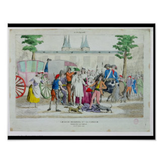 Louis XVI  and his family taken to the Temple Posters