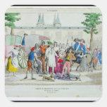 Louis XVI  and his family taken to the Temple Sticker