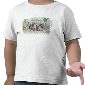 Louis XVI  and his family taken to the Temple T-shirts
