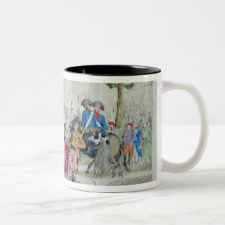 Louis XVI  and his family taken to the Temple Two-Tone Coffee Mug