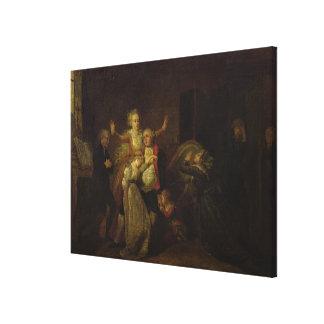 Louis XVI  Bidding Farewell to his Family Canvas Print