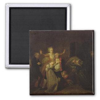 Louis XVI  Bidding Farewell to his Family Magnet