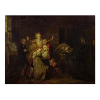 Louis XVI  Bidding Farewell to his Family Postcard