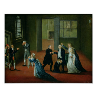 Louis XVI  Bidding Farewell to his Family Poster