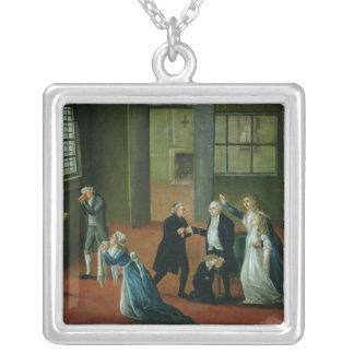 Louis XVI  Bidding Farewell to his Family Silver Plated Necklace