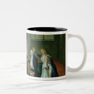 Louis XVI  Bidding Farewell to his Family Two-Tone Coffee Mug
