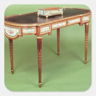 Louis XVI bureau plat with pale tulipwood veneer Square Sticker