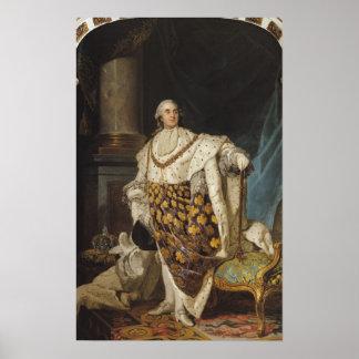 Louis XVI en trajes de la coronación, después de 1 Poster