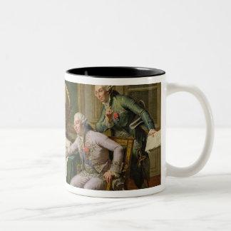 Louis XVI  Giving Instructions to La Perouse Two-Tone Coffee Mug