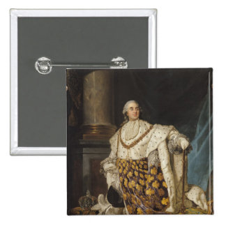 Louis XVI  in Coronation Robes, after 1774 2 Inch Square Button