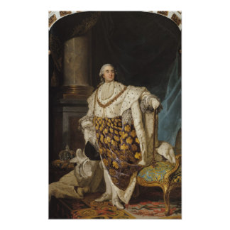 Louis XVI  in Coronation Robes, after 1774 Poster