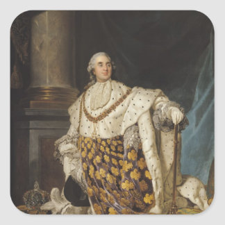 Louis XVI  in Coronation Robes, after 1774 Square Sticker