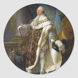 Louis XVI King of France and Navarre (1754-1793) Classic Round Sticker