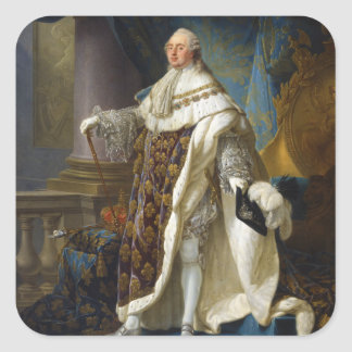 Louis XVI King of France and Navarre (1754-1793) Square Sticker