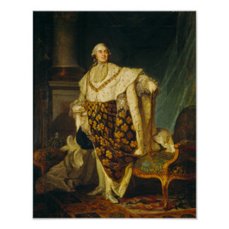 Louis XVI  King of France in Coronation Robes Poster