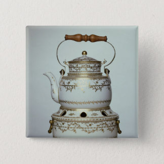 Louis XVI porcelain kettle and stand made in Pinback Button