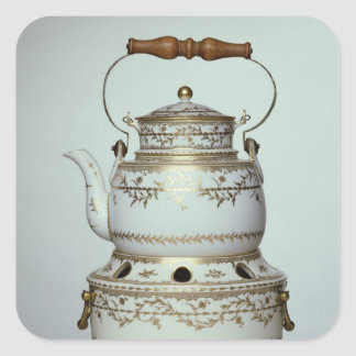 Louis XVI porcelain kettle and stand made in Square Sticker