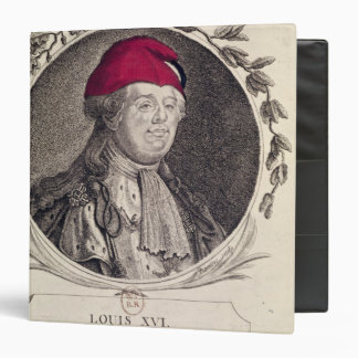 "Louis XVI que lleva un capo phrygian Carpeta 1 1/2"""