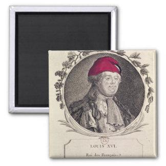 Louis XVI  wearing a phrygian bonnet 2 Inch Square Magnet